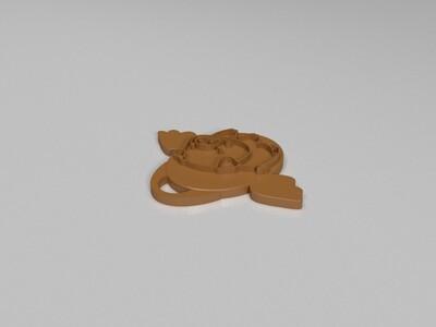 十二生肖吊坠——猪-3d打印模型