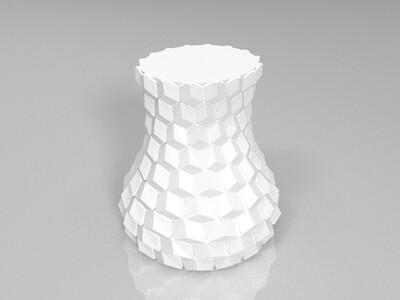 蜂窝花瓶-3d打印模型