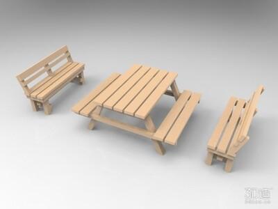 公园长椅-3d打印模型