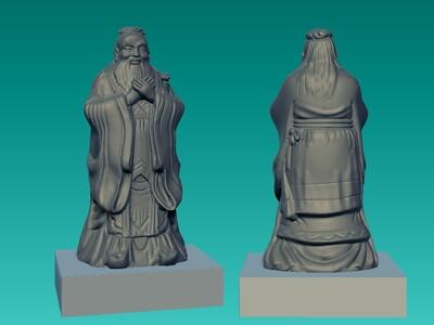 孔子1-3d打印模型