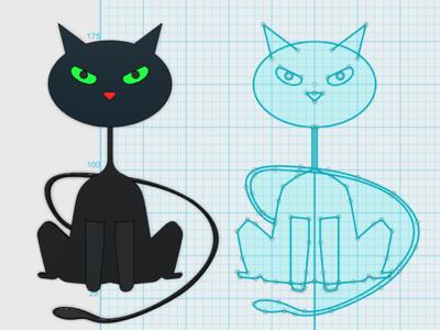 万圣节-小黑猫-3d打印模型