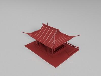 亭子-3d打印模型