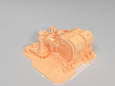 红色警戒主城模型-3d打印模型