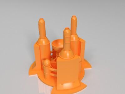 红色警戒发电站模型-3d打印模型