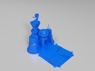 红色警戒飞机场模型-3d打印模型