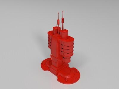 红色警戒实验室模型-3d打印模型