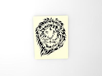 缕空狮子图案-3d打印模型