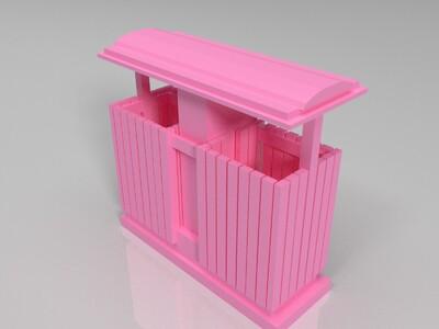 垃圾箱-3d打印模型