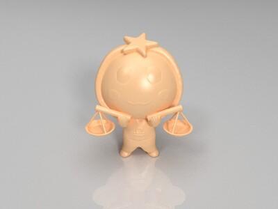 新十二星座(天秤座)-3d打印模型
