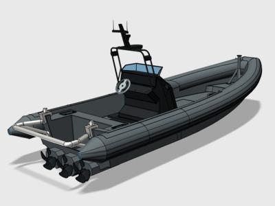 快艇-3d打印模型