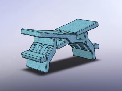 鲁班凳-3d打印模型