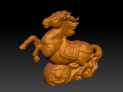新十二生肖雕像-马-3d打印模型