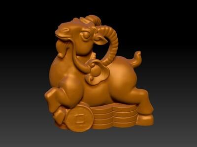 新十二生肖雕像-羊-3d打印模型