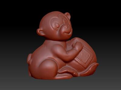 新十二生肖雕像-猴-3d打印模型