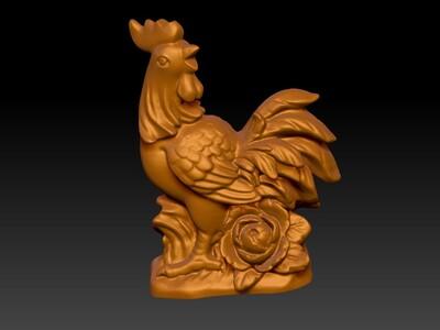 新十二生肖雕像-鸡-3d打印模型