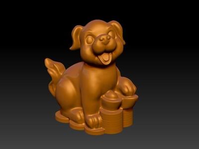 新十二生肖雕像-狗-3d打印模型