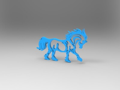 马摆件-3d打印模型