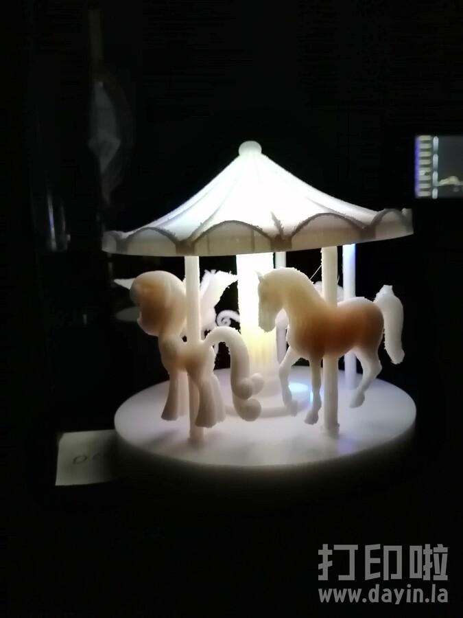 旋转木马灯-3d打印模型