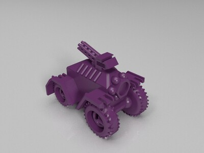 装甲车-3d打印模型