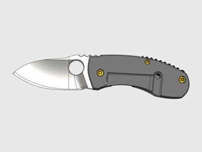 小折叠刀-3d打印模型
