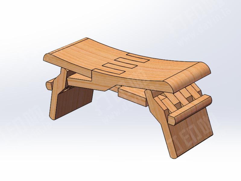鲁班凳第二代-3d打印模型