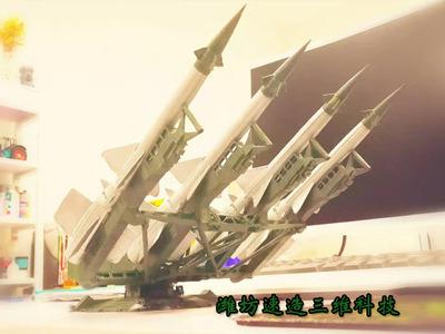 萨母3防空导弹-3d打印模型