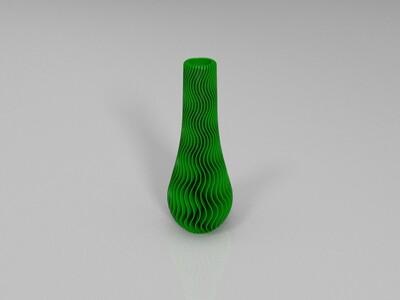 波浪花瓶-3d打印模型