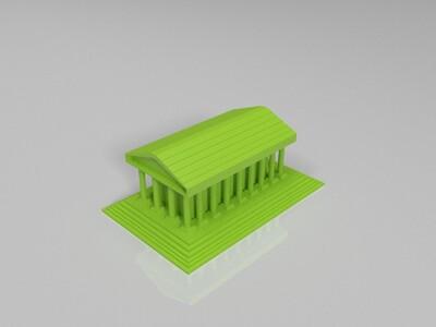 神农庙-3d打印模型