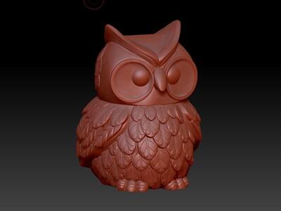 大眼猫头鹰存钱筒&灯笼-3d打印模型