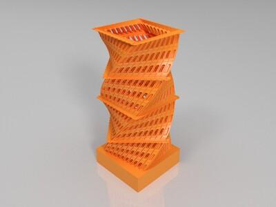 特色楼框摆件-3d打印模型