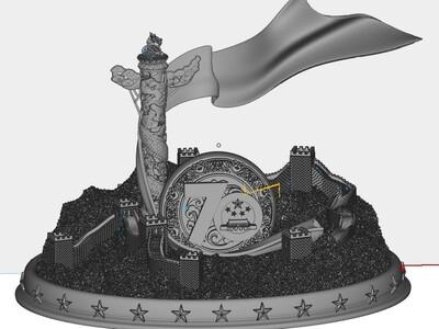 中国70周年庆典-3d打印模型