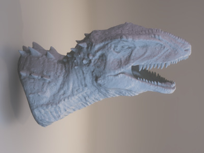 班卓琴恐龙的头( 高清版)-3d打印模型