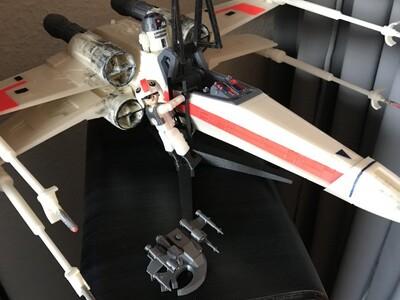 星球大战X飞机 送驾驶员模型-3d打印模型