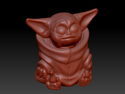 尤达宝宝存钱筒&灯笼-3d打印模型
