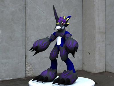 暗黑烈焰兽 -3d打印模型