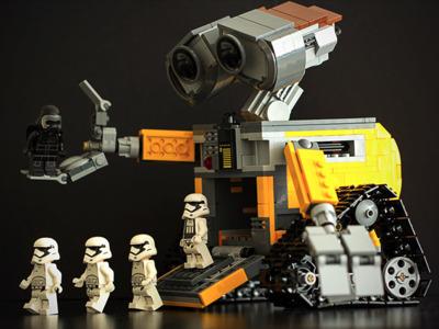 瓦力机器人-3d打印模型