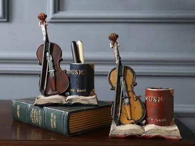 小提琴笔筒-3d打印模型