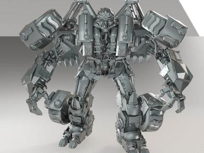 变形金刚狂派工程车机器人模型(高清版)-3d打印模型