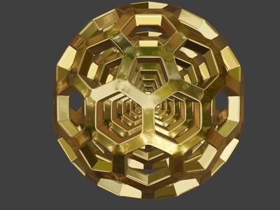 正六边形组成的圆球-简化版-3d打印模型