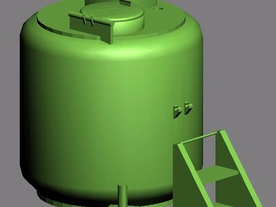 液氮罐模型-3d打印模型