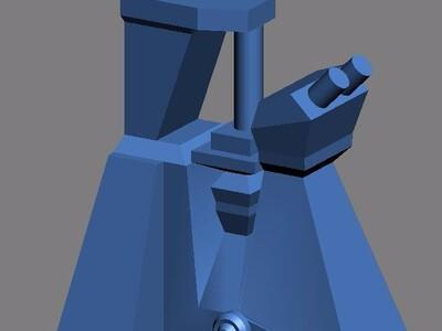 倒置显微镜模型-3d打印模型