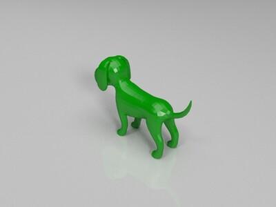 小狗基础模型-3d打印模型