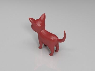 小猫基础模型-3d打印模型