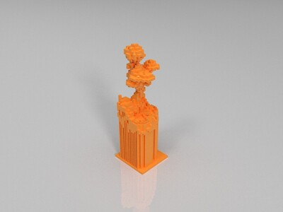 我的世界方块建筑-3d打印模型