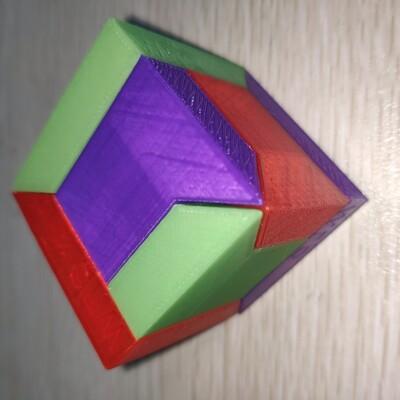 拼图方块 立方体 鲁班锁-3d打印模型