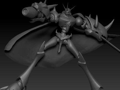 数码宝贝奥米加兽-3d打印模型